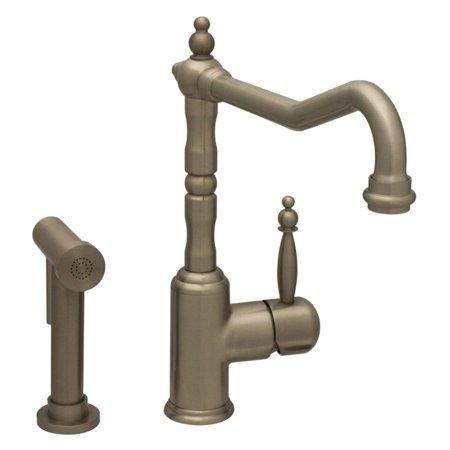 Whitehaus WH2070800-BN Jem Collection Single Lever Handle Faucet