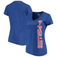 Philadelphia Phillies G-III 4Her by Carl Banks Women's Asterisk V-Neck T-Shirt - Royal