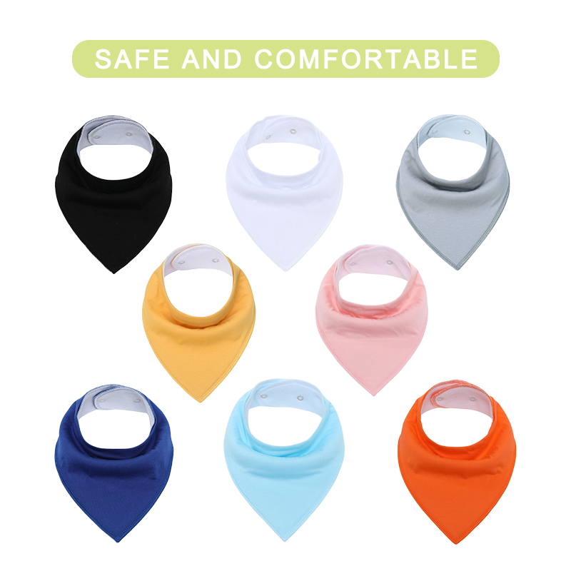 Baby Bandana Drool Bibs for Boys and Girls,Super Soft Unisex 8 Pack Absorbent Cotton Organic Bib Set,Baby Bibs for Teething and Drooling