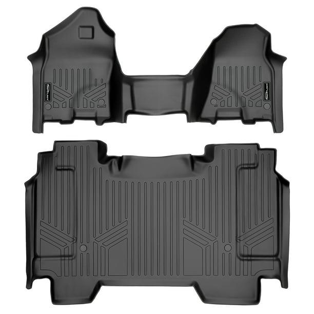 MAXLINER Custom Fit Floor Mats 1st Row Liner Set Black for 19-20 Ram 1500 Crew and Quad Cab with Vinyl Floor