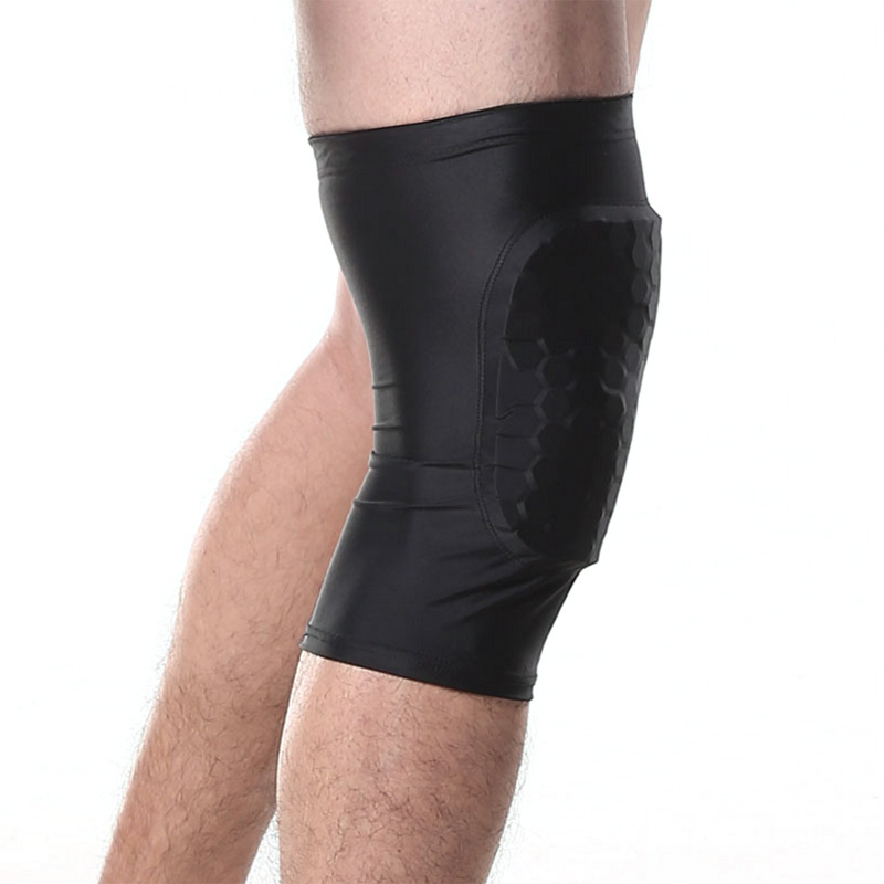 Runacc Honeycomb Knee Pad Anti Slip Basketball Leg Long Sleeve