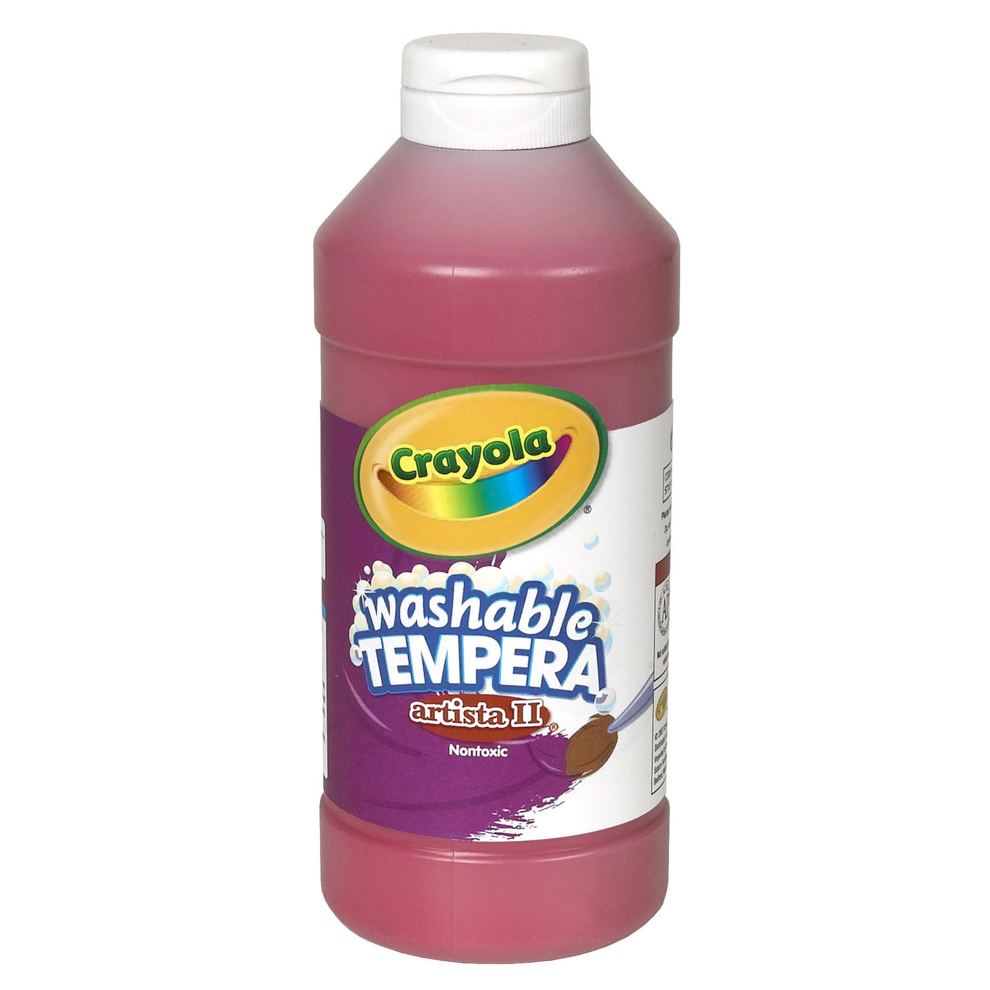 Crayola Artista Ii Washable Liquid Tempera Paint, Red, 16 Oz Bottle, Set Of 6 Bottles