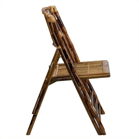 Bowery Hill Bamboo Folding Chair in Brown - image 1 de 2