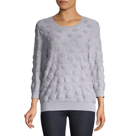 Petite Roundneck Cotton Sweater
