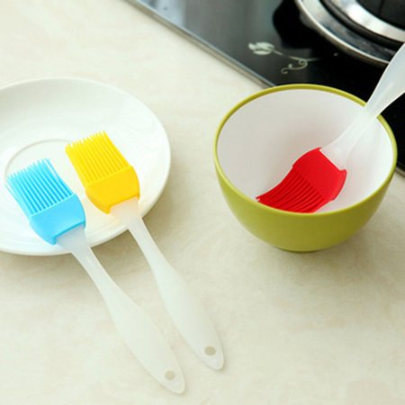 Grilling BBQ Baking, Pastry, and Oil Stainless Steel Brushes with Back up Silicone Brush Heads for Kitchen Cooking & Marinating, Dishwasher Safe( 3 pcs) pcs) - image 6 of 8