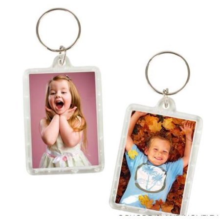 144 Photo Frame Keychains WHOLESALE LOT, 144 KEYCHAINS, EACH IT A CLEAR BAG By DISCOUNT PARTY AND NOVELTY - Wholesale Novelty Items