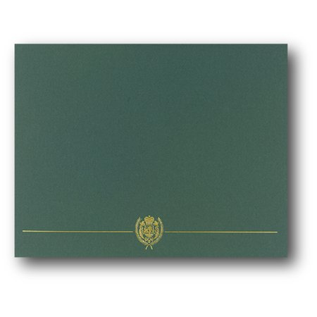 Green Classic Crest Certificate Covers - 25 Count - Walmart.com