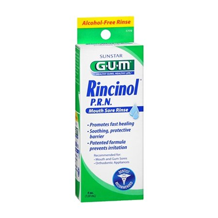 Canker Sore Rinse (Butler G-U-M Rincinol P.R.N Oral Rinse, Canker Sore Pain Reliver 1770R, 4 Oz, 2)