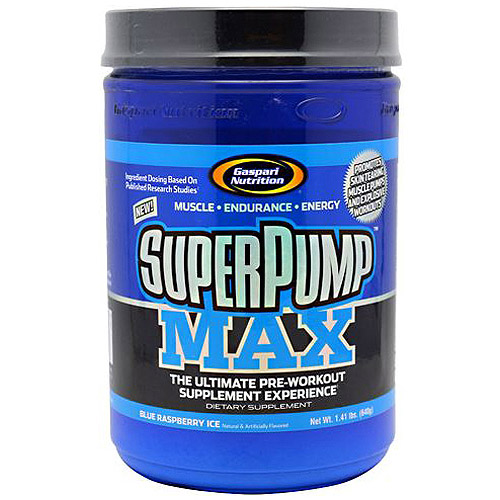 Gaspari Nutrition SuperPump MAX - Blue Raspberry Ice, 40 Servings