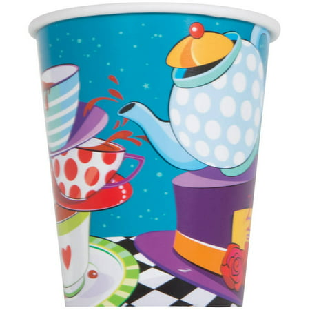 9oz Paper Alice in Wonderland Tea Party Cups, 8ct for $<!---->