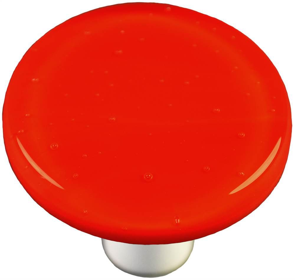 Round Knob in Tomato Red (Aluminum)