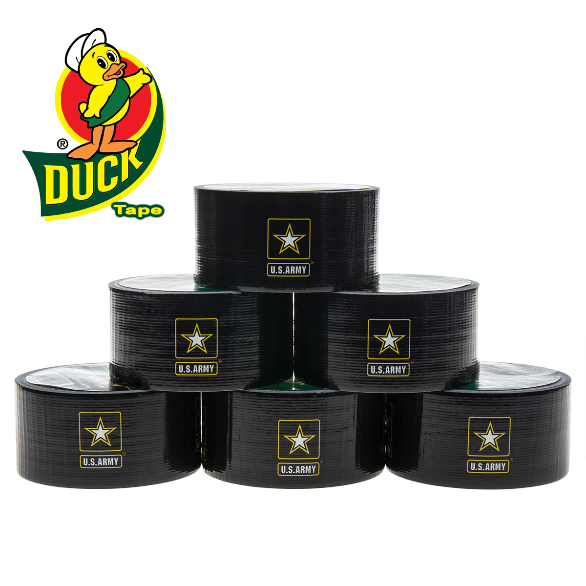 6 Rolls Army Logo Duck Brand Duct Tape Pattern Arts & Crafts Projects DIY 60yds