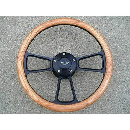 Chevy Bel Air Billet - New World Motoring 1967 to1968 Chevy Impala, Bel Air Real Oak & Billet Steering Wheel, Full Kit