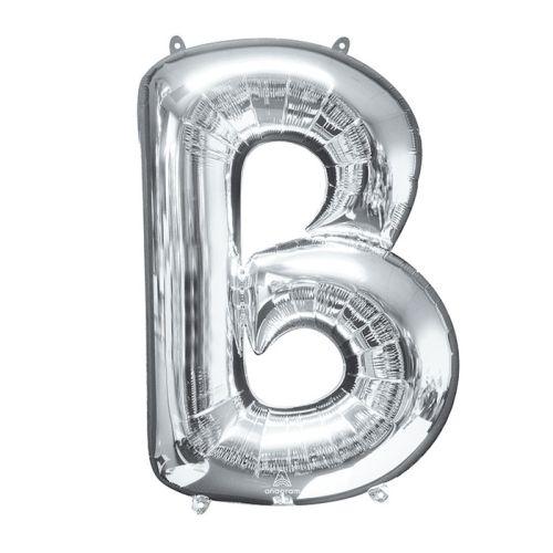 "Burton & Burton 34"" Letter B Silver Balloon"