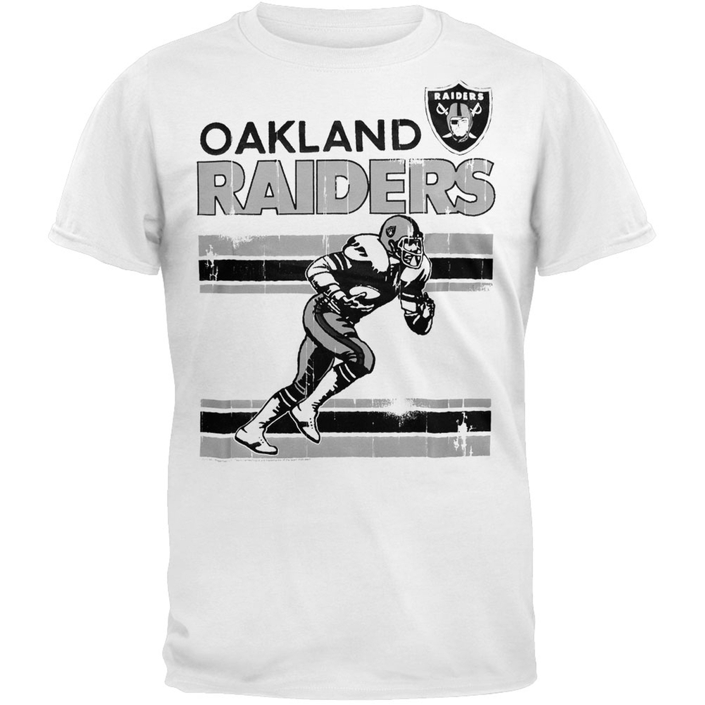 Oakland Raiders - Action Crackle Soft T-Shirt - X-Large