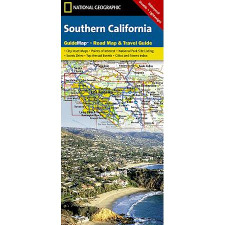 National geographic guidemaps: southern california - folded map: 9781597750158