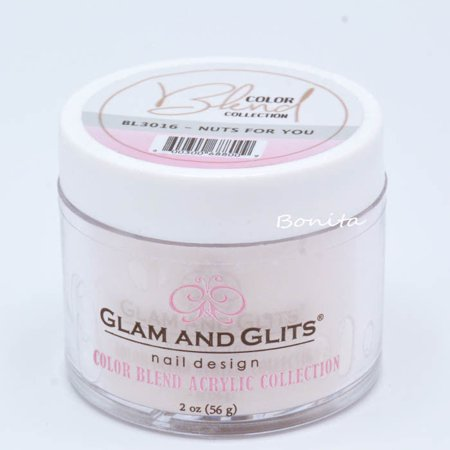 (Glam And Glits Acrylic Powder Color Blend Collection BL3016 Nuts For You 2 oz)
