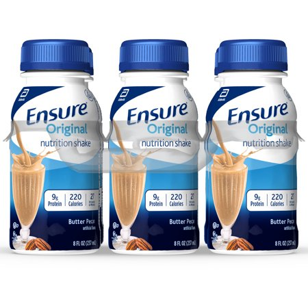 Ensure Original Nutrition Shake with 9 grams of protein, Meal Replacement Shakes, Butter Pecan, 8 fl oz, 6 Count Complete Balanced Nutrition Shakes Butter