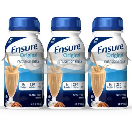 Ensure Original Nutritional Shake, 9g Protein, Butter Pecan, 8 fl oz, 24 count