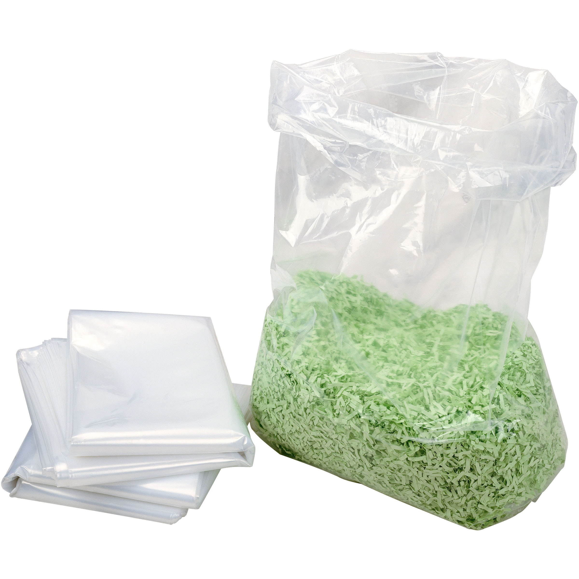 HSM, HSM1408, 13-gallon Shredder Bags, 100 / Carton, Clear, 13 gal