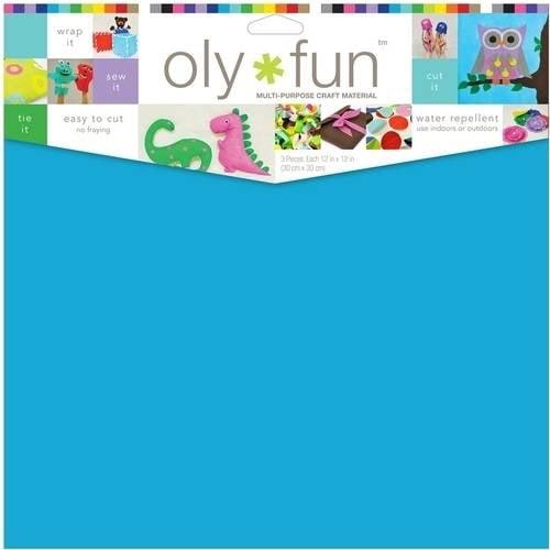 """Oly Fun Multipurpose Craft Material, 12"""" x 12"""", 3pk"""