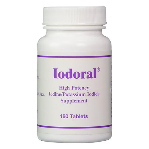 OPTIMOX Iodoral High Potency Iodine Potassium Iodide Thyroid Support Supplement, 180 Count by Logitech