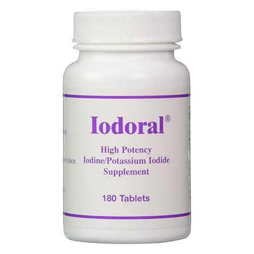 OPTIMOX Iodoral High Potency Iodine Potassium Iodide Thyroid Support Supplement, 180 Count
