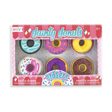 Donut Scented Erasers 6 pack - School Supplies by ooly (112-078) - Scented Erasers