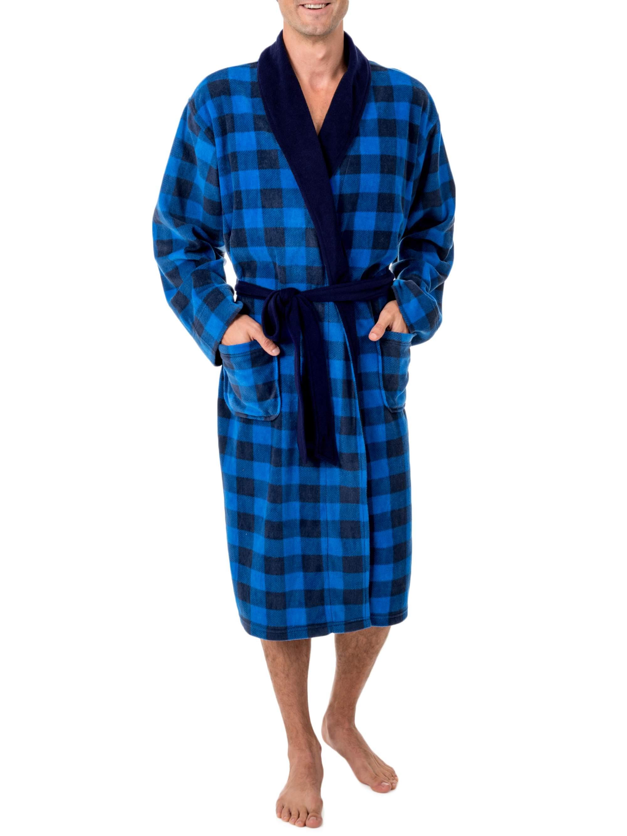 Big Size Men's Fleece Shawl Collar Robe