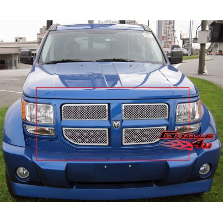 Compatible with 07-11 2011 Dodge Nitro Stainless Mesh Grille Insert D76473S