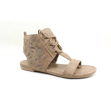 Sugar Womens Watercress Tan Embroidered Gladiators Size 6