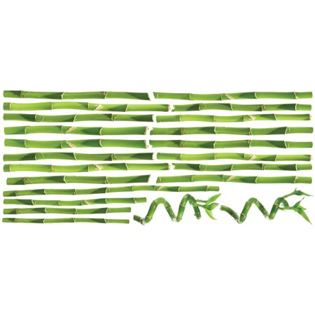 Roommates bamboo peel and stick wall decals for Peel and stick wallpaper walmart