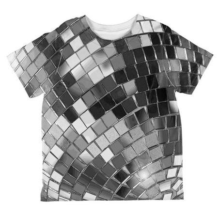 Non-Metallic Disco Ball All Over Toddler T Shirt