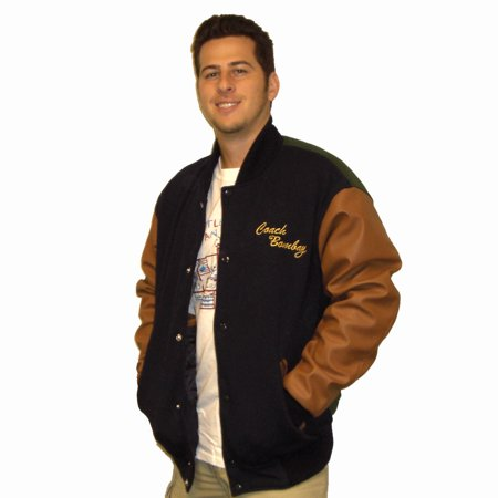 Gordon Bombay Jacket Mighty Ducks Movie Varsity Letterman Hockey Costume Coach - Letter Man Jacket