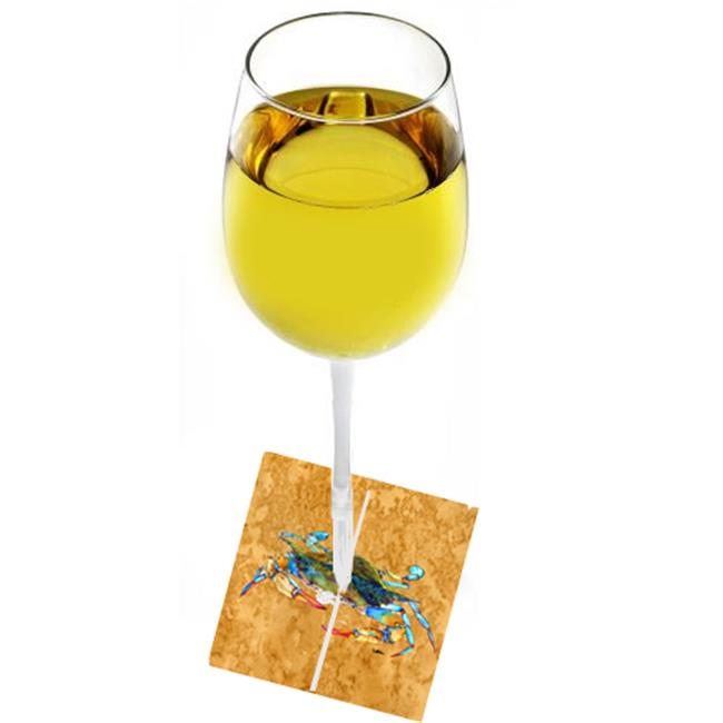 Crab Gold Bubble Fabric Wine Marker