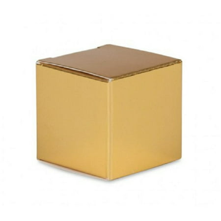 24 gold cardboard paper gift favor boxes 2.5