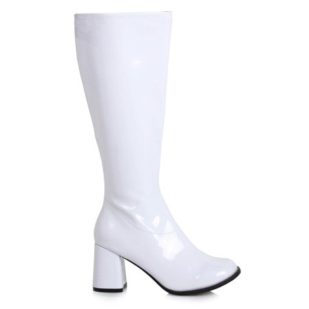 Women's 3 inch Wide Width White GoGo Boot Halloween Costume Accessory - Snow White Prince Costume