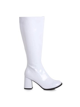 Product Image Women's 3 inch Wide Width White GoGo Boot Halloween Costume Accessory. ELLIE SHOES