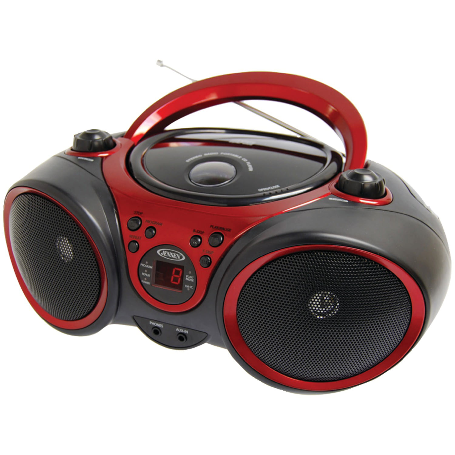 JENSEN CD-490 Portable Stereo CD Player with AM FM Stereo Radio by Jensen