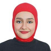 Girls/Children Ninja Hijab Scarf Headscarf Wrap one Piece Muslim Amira Cotton (Red)