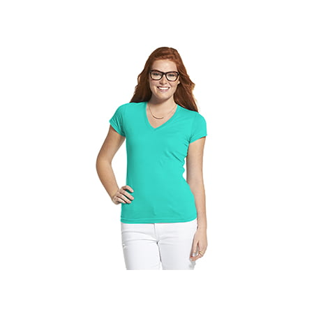LAT Ladies' Junior Fit V-Neck Fine Jersey T-Shirt