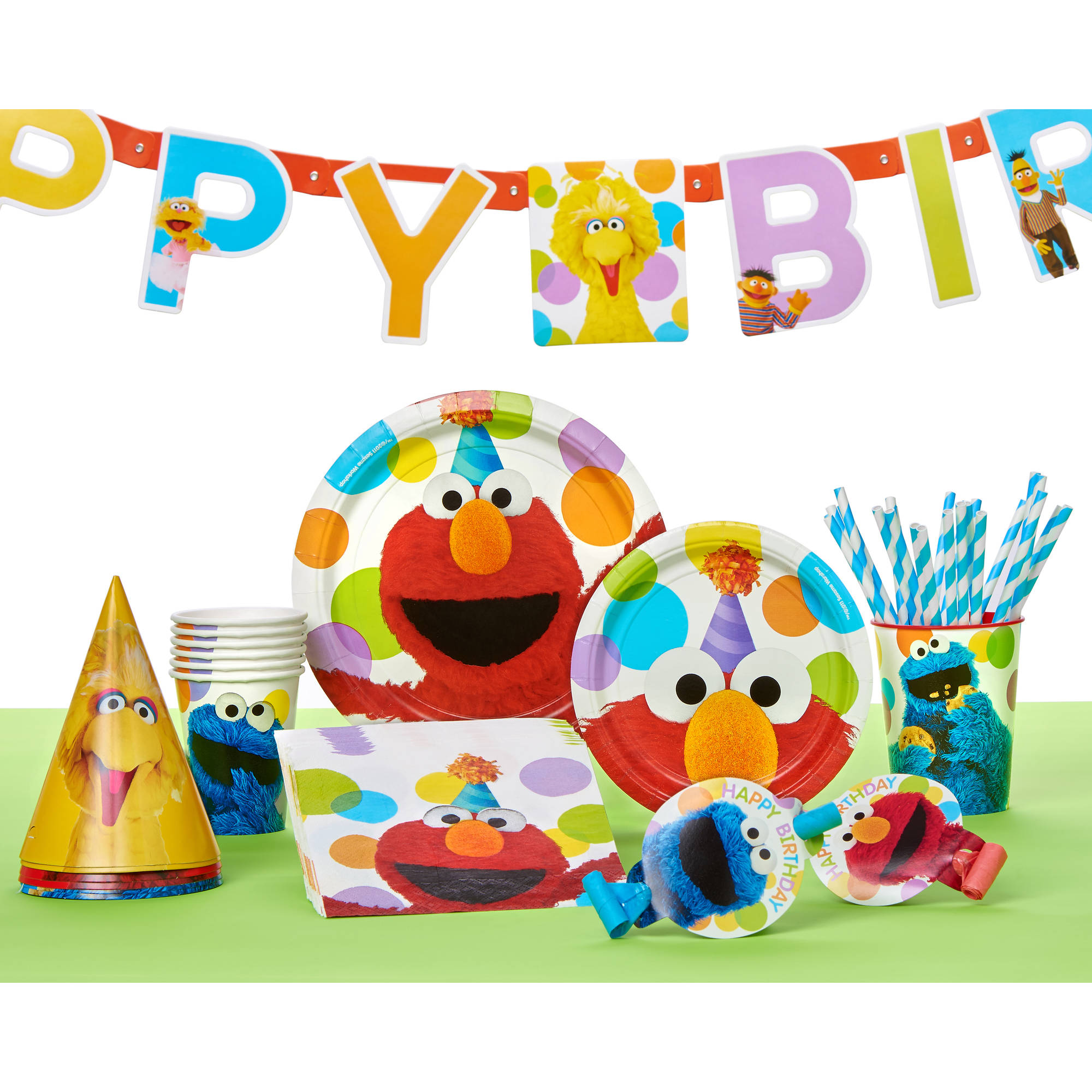 Sesame Street Birthday Party Costume Hats 8ct