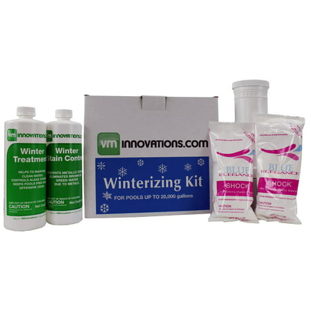 - Swimming Pool Winterizing Chemical Treatment Closing Kit - Up To 20,000 Gallons