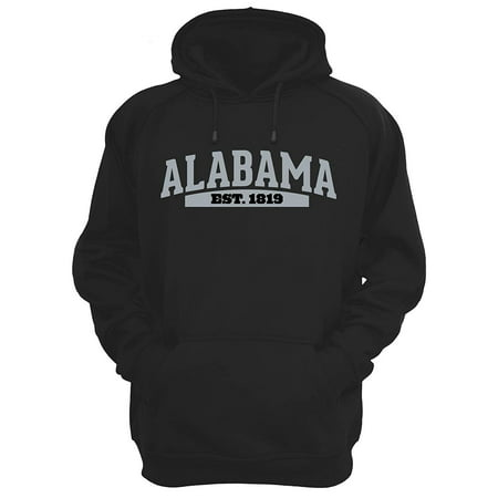 JH Design Men's State of Alabama Souvenir Style Novelty Hoodies