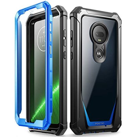 Poetic Full-Body Hybrid Shockproof Bumper Cover, Built-in-Screen Protector, Guardian Series, Case for Motorola Moto G7 and Moto G7 Plus (2019 Release), -