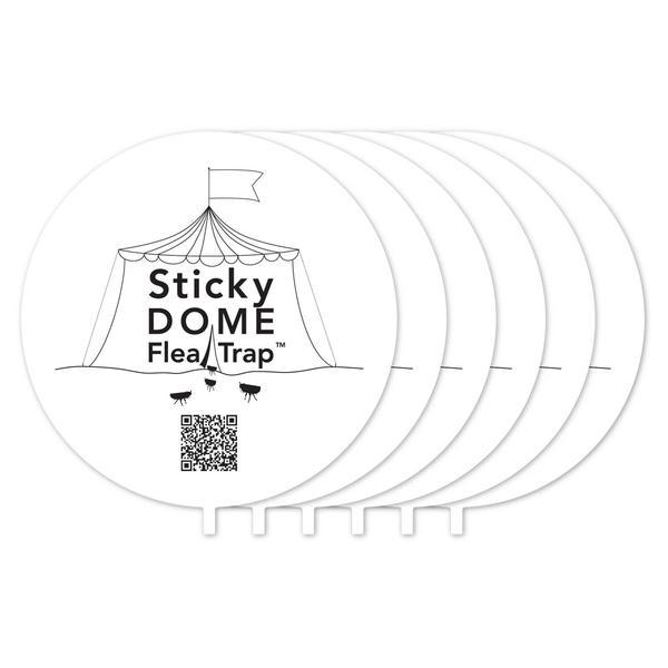 Aspectek Sticky Dome Flea Trap Refill 6-Pack