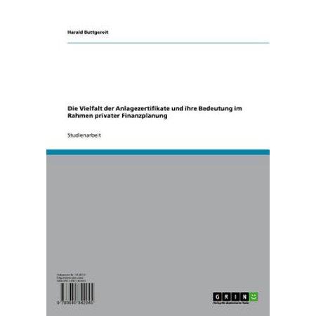 Die Vielfalt der Anlagezertifikate und ihre Bedeutung im Rahmen privater Finanzplanung - eBook (Orange Rahmen In 5)