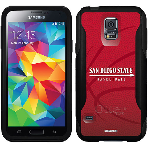 SDSU Basketball Design on OtterBox Commuter Series Case for Samsung Galaxy S5