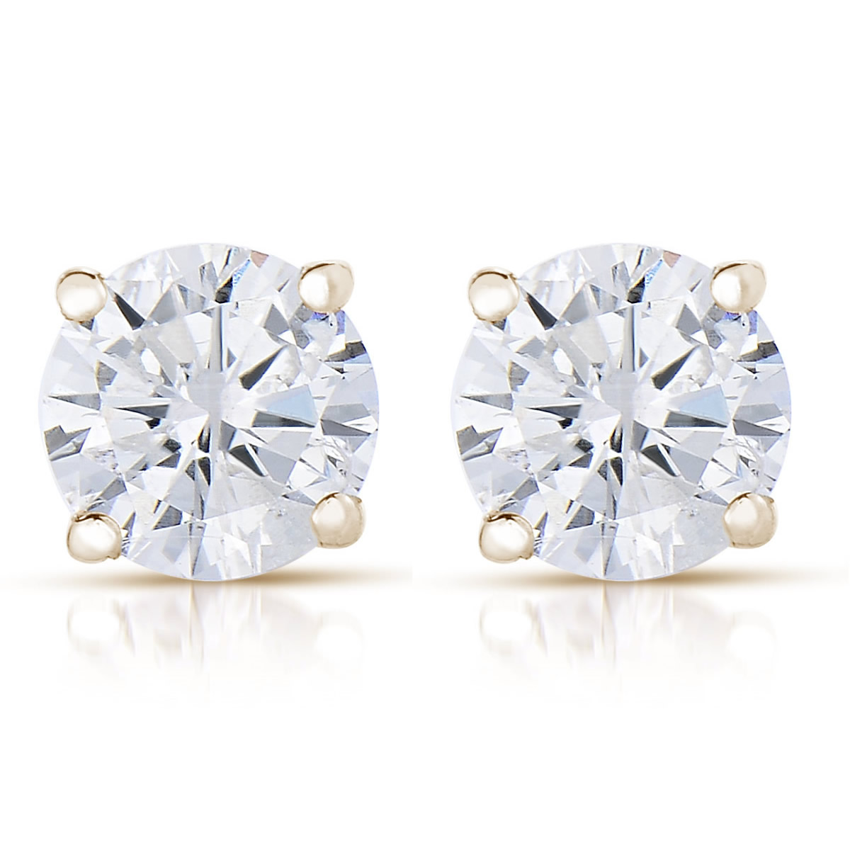 8e18a1135 Vir Jewels - Vir Jewels 1/4 cttw (I2-I3 Clarity, K-M Color) Round Diamond  Stud Earrings 14K White Gold - Walmart.com