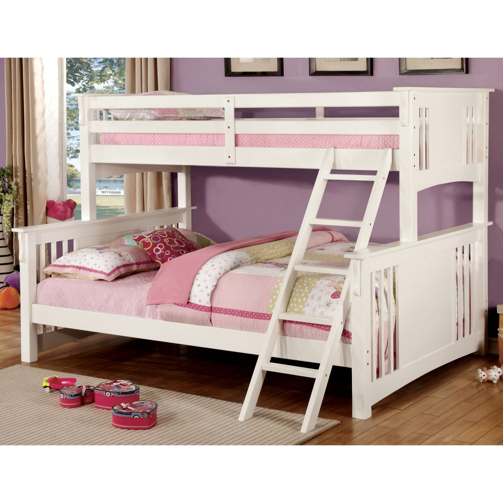 Charmant Furniture Of America Columbia Twin XL Over Queen Bunk Bed